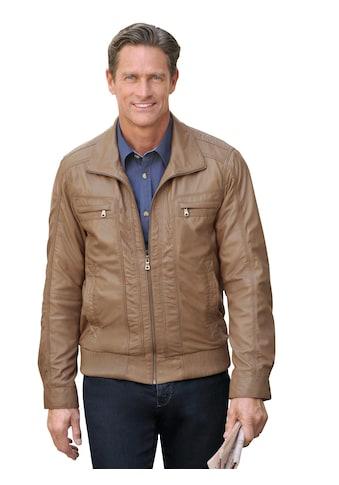 Mainpol Leder - Jacke mit markanten Ziernähten kaufen