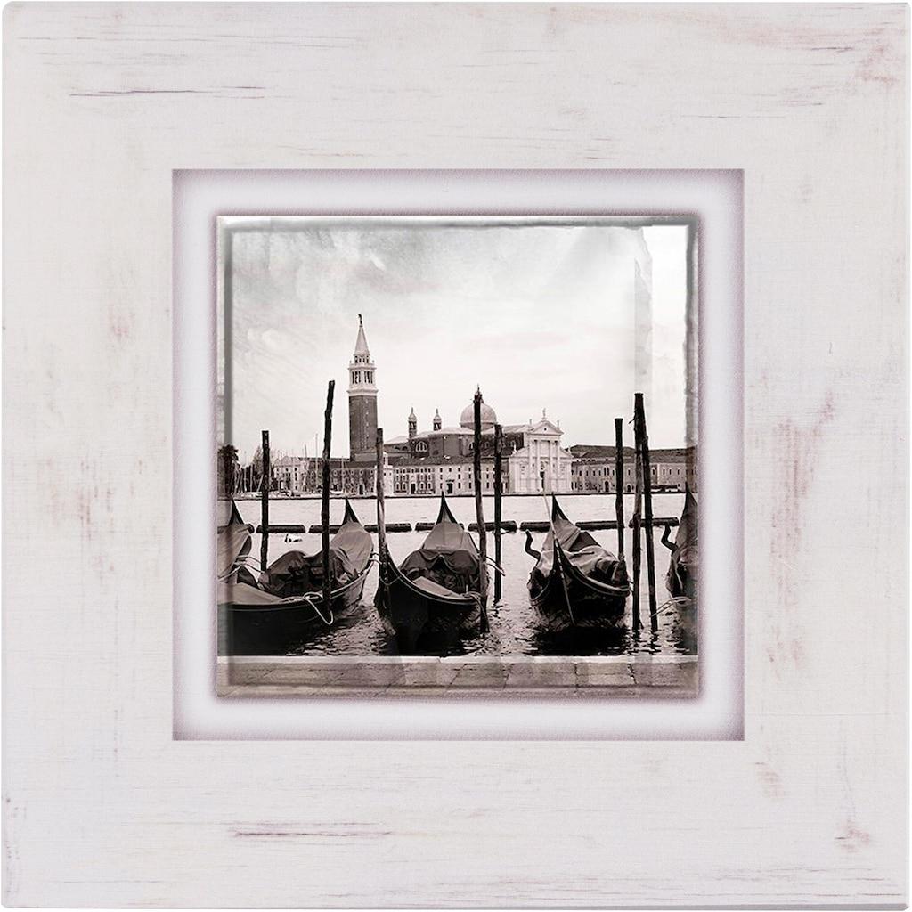 Home affaire Holzbild »Gondeln in Venedig«, 40/40 cm