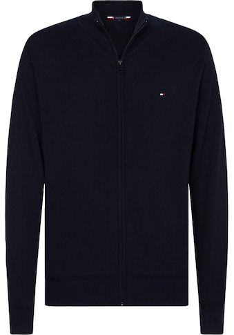 TOMMY HILFIGER Strickjacke »ORGANIC COTTON SILK ZIP THROUGH« kaufen
