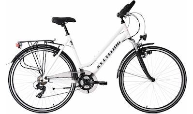 KS Cycling Trekkingrad »Metropolis«, 21 Gang, Shimano, Tourney Schaltwerk, Kettenschaltung kaufen