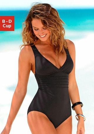 LASCANA Badeanzug mit toller Rückenlösung online bestellen   BAUR 8f23e953bc