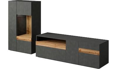 TRENDMANUFAKTUR Wohnwand »SILKE LIGHT« (Set, 2 - tlg) kaufen