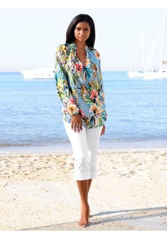 Alba Moda Strandbluse mit Tierprint kaufen