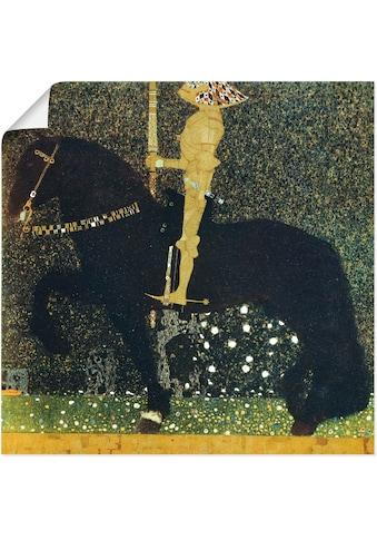 Artland Wandbild »Das Leben ein Kampf der goldene Ritter«, Sport, (1 St.), in vielen... kaufen