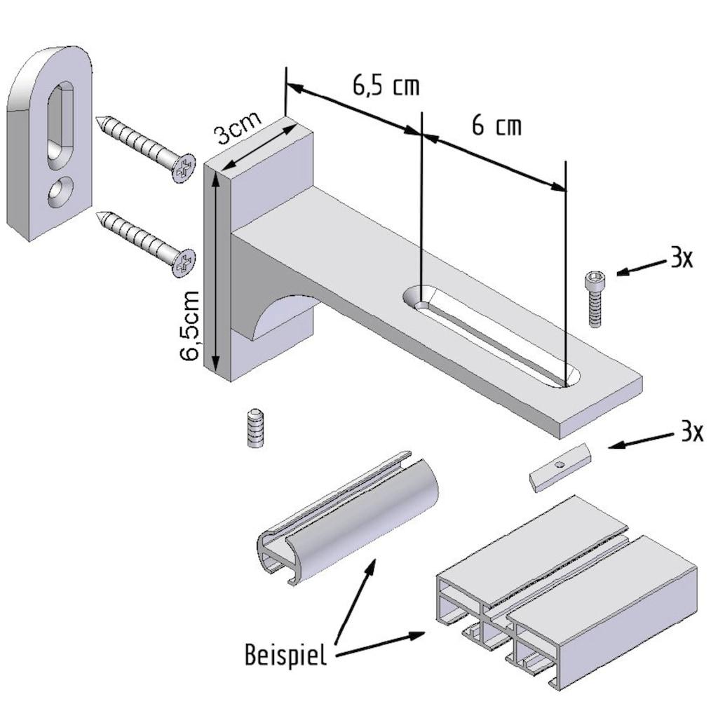 indeko Gardinenstange »Bern«, 2 läufig-läufig, Wunschmaßlänge
