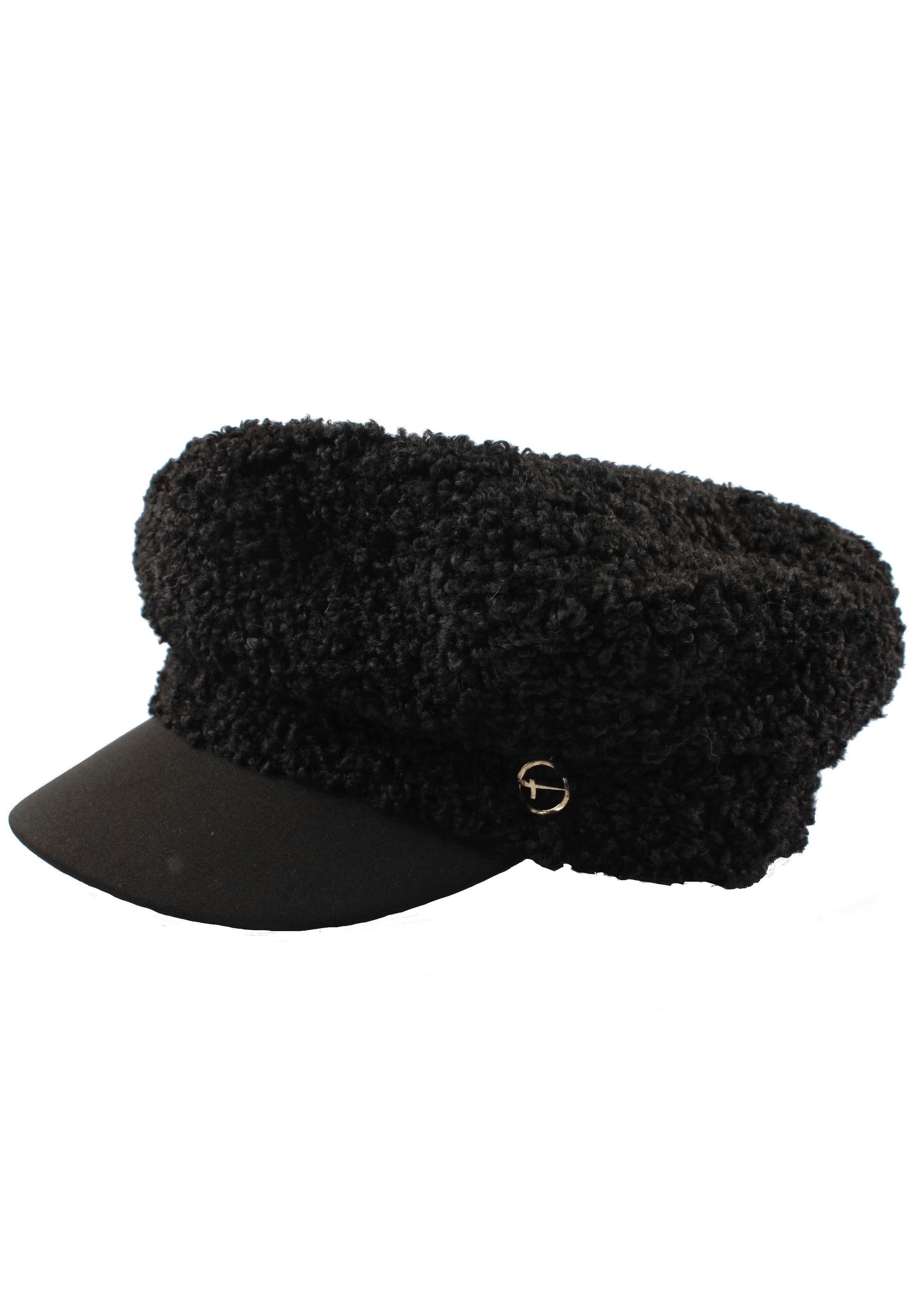 Tamaris Schirmmütze, Baker Boy Mütze schwarz Damen Schirmmütze