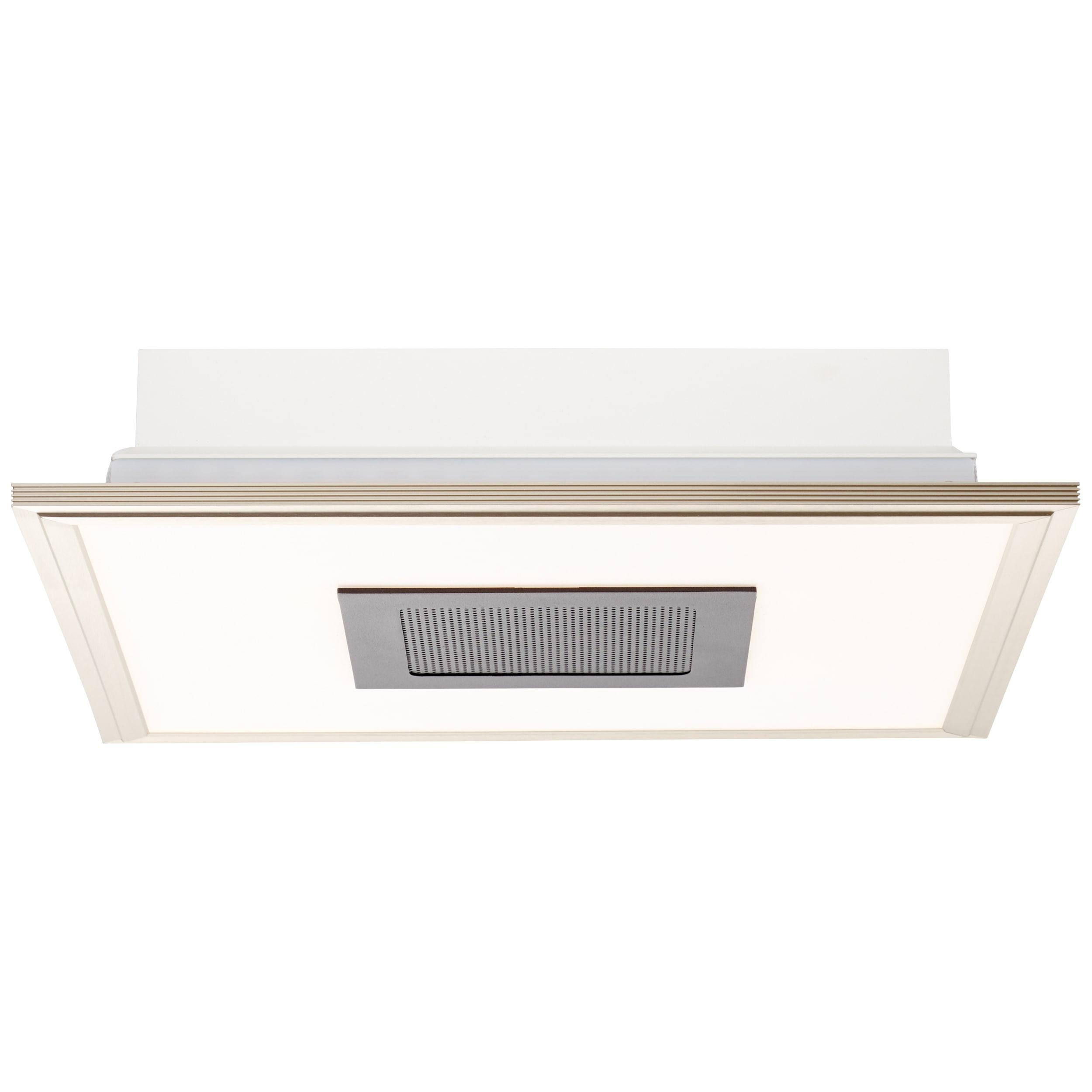 AEG Niven LED Deckenaufbau-Paneel 42x42cm Lautsprecher nickel