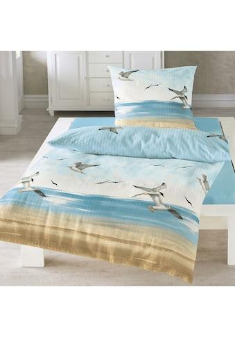 TRAUMSCHLAF Bettwäsche »Seemöwen«, bügelfreie Seersucker Qualität kaufen