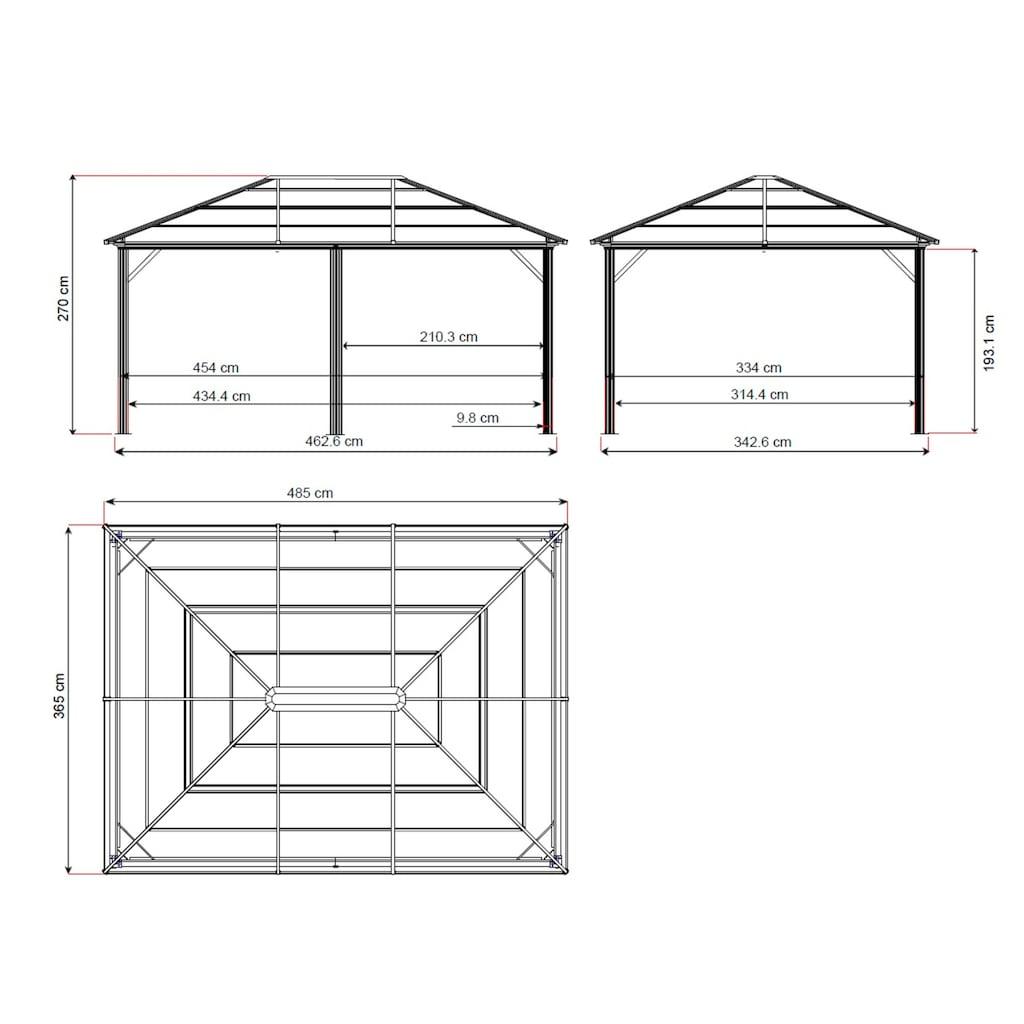 Sojag Pavillon »Gazebo Meridien«, (Set), BxT: 365x485 cm, mit Moskitonetzen