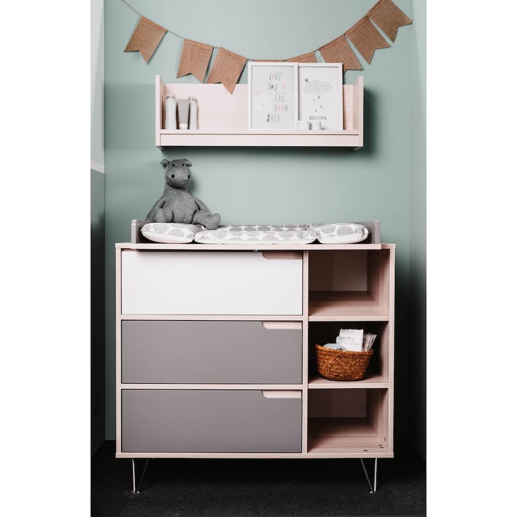 Geuther Babyzimmer-Komplettset »Marit, grau/weiß«, (3 St.), mit Kinderbett, Kleiderschrank und Wickelkommode; Made in Germany
