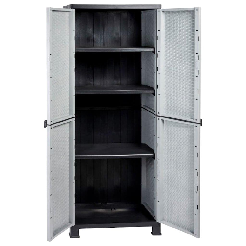 Kreher Mehrzweckschrank »Madera«, B/T/H: 68x40x171 cm, 3 Einlegeböden, Kunststoff