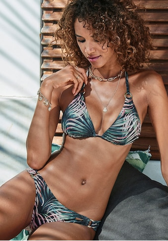 LASCANA Triangel-Bikini-Top »Reese«, mit goldfarbenen Zierringen kaufen