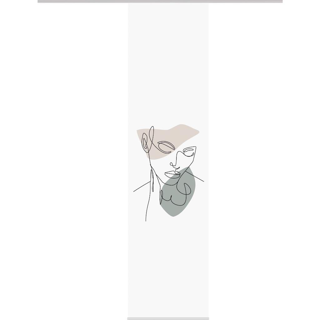 HOME WOHNIDEEN Schiebegardine »SCHIEBEVORHANG DEKOSTOFF DIGITALDRUCK 'CARILO'«, DIGITALDRUCK - INDIVIDUELL KÜRZBAR