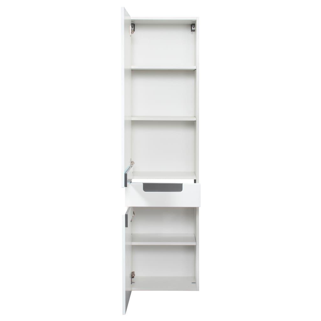 HELD MÖBEL Hochschrank »Siena«, Breite 40 cm, mit hochglänzenden Fronten in weiß