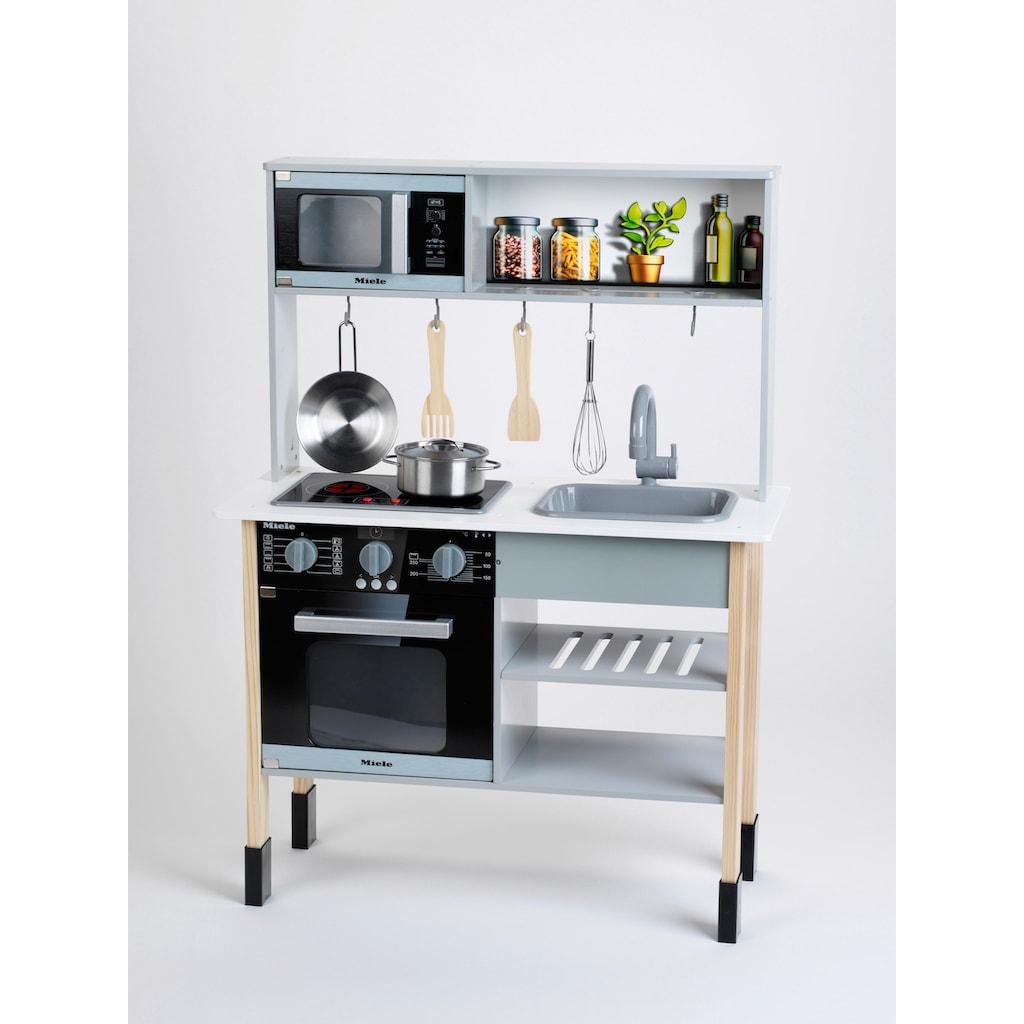 Klein Spielküche »Miele«, mit Zubehör aus Holz und Metall, FSC®-Holz aus gewissenhaft bewirtschafteten Wäldern