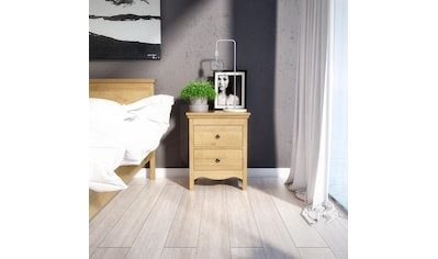 Home affaire Nachttisch »Silkeborg«, aus foliertem Holzwerkstoff mit Eichenholz Optik, mit Metallgriffen, Breite 58 cm kaufen