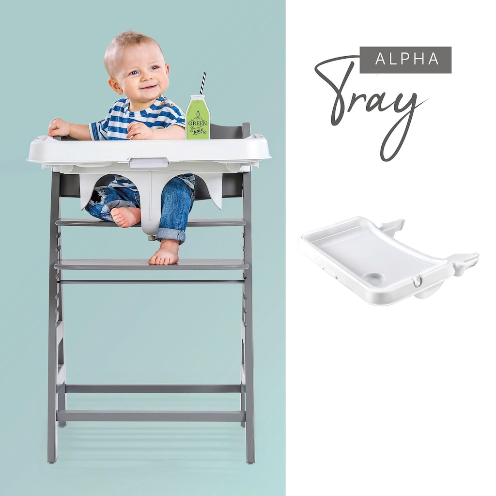 Hauck Hochstuhltablett »Alpha Tray Tischaufsatz, weiß«, für Hochstühle Alpha+ und Beta+
