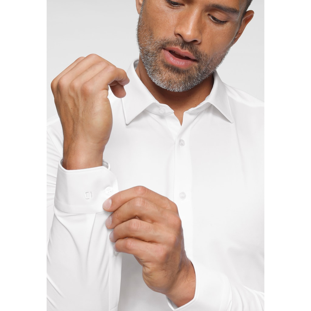 OLYMP Businesshemd »No. Six super slim 24/Seven«, besonders elastisch und figurbetonend