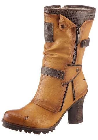 Mustang Shoes Winterstiefel, mit Zierrreißverschluss an der Außenseite kaufen