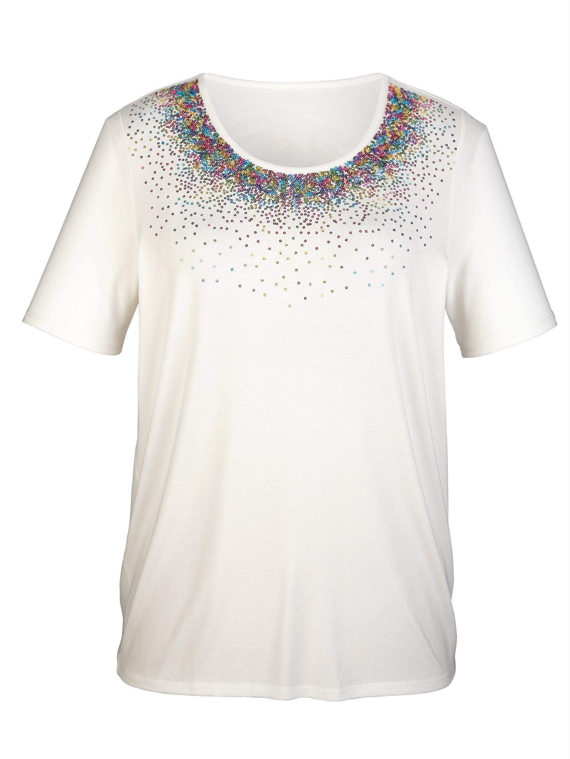 m. collection - m collection Shirt mit Pailletten
