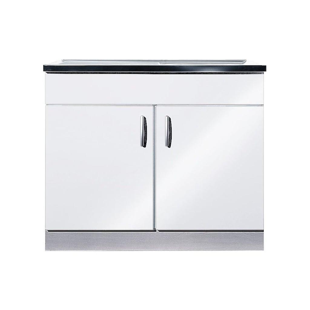 wiho Küchen Spülenschrank »Amrum«, 100 cm breit mit Auflagespüle