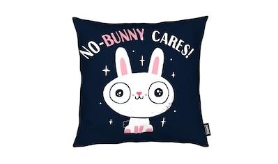 Dekokissen, »No - Bunny Cares«, Juniqe kaufen