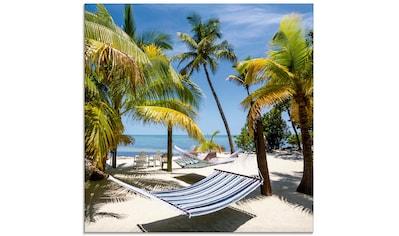 Artland Glasbild »Florida Wellness«, Strand, (1 St.) kaufen