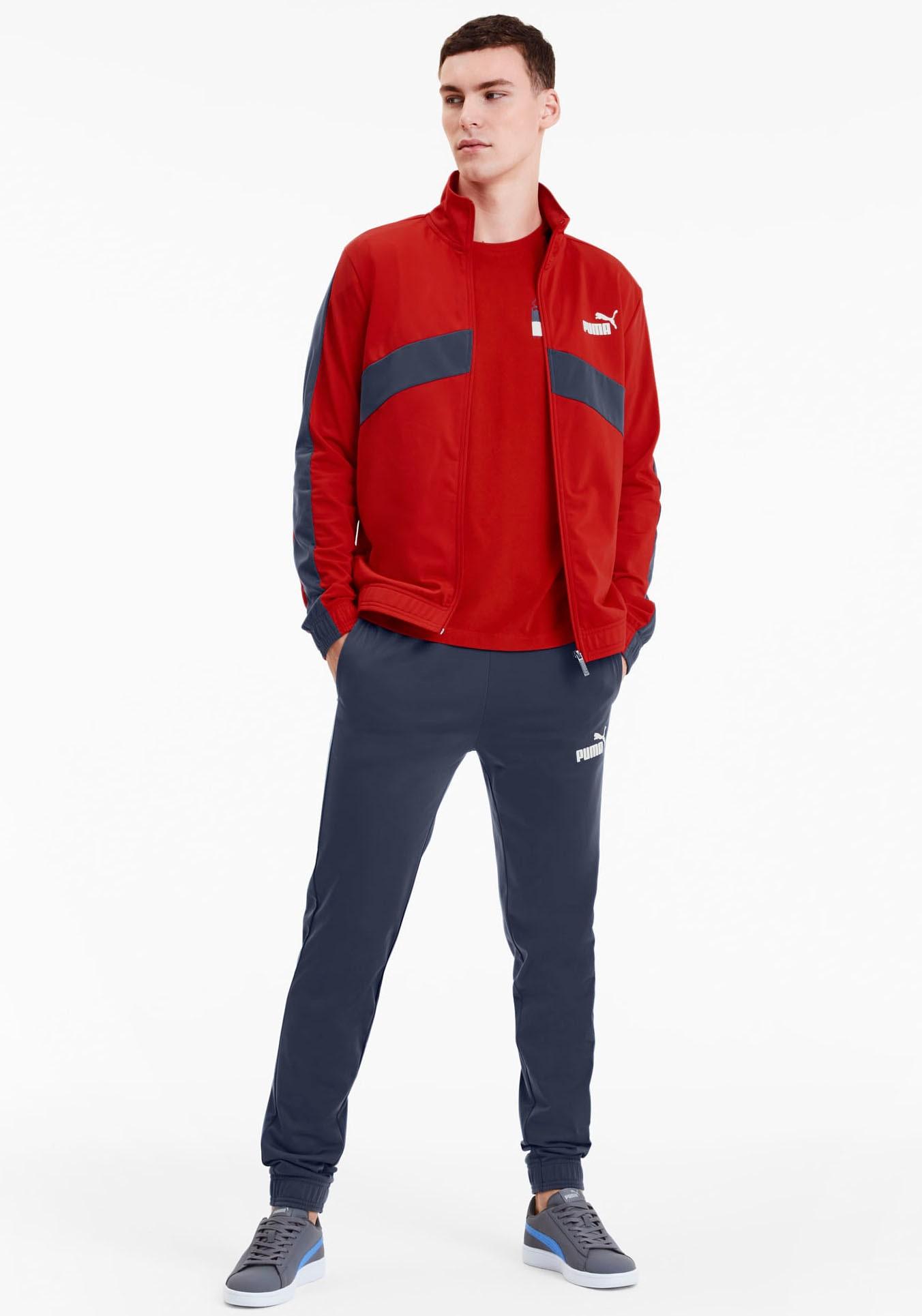 PUMA Trainingsanzug Classic Tricot Suit (Set, 2 tlg.) rot Herren