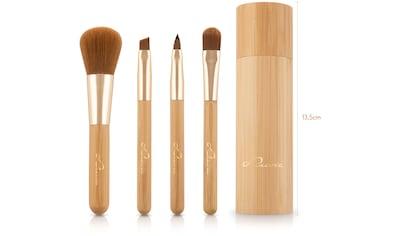 "Luvia Cosmetics Kosmetikpinsel - Set ""Travel Bamboo Tube"", 4 - tlg. kaufen"