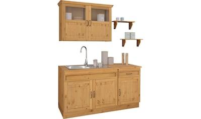 Home affaire Küchen-Set »Fanö«, (5 St.), ohne E-Geräte, Breite 150 cm, aus massiver... kaufen