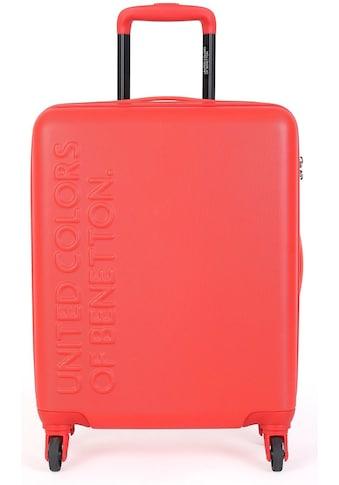 United Colors of Benetton Hartschalen-Trolley »UCB, 64 cm, red«, 4 Rollen kaufen