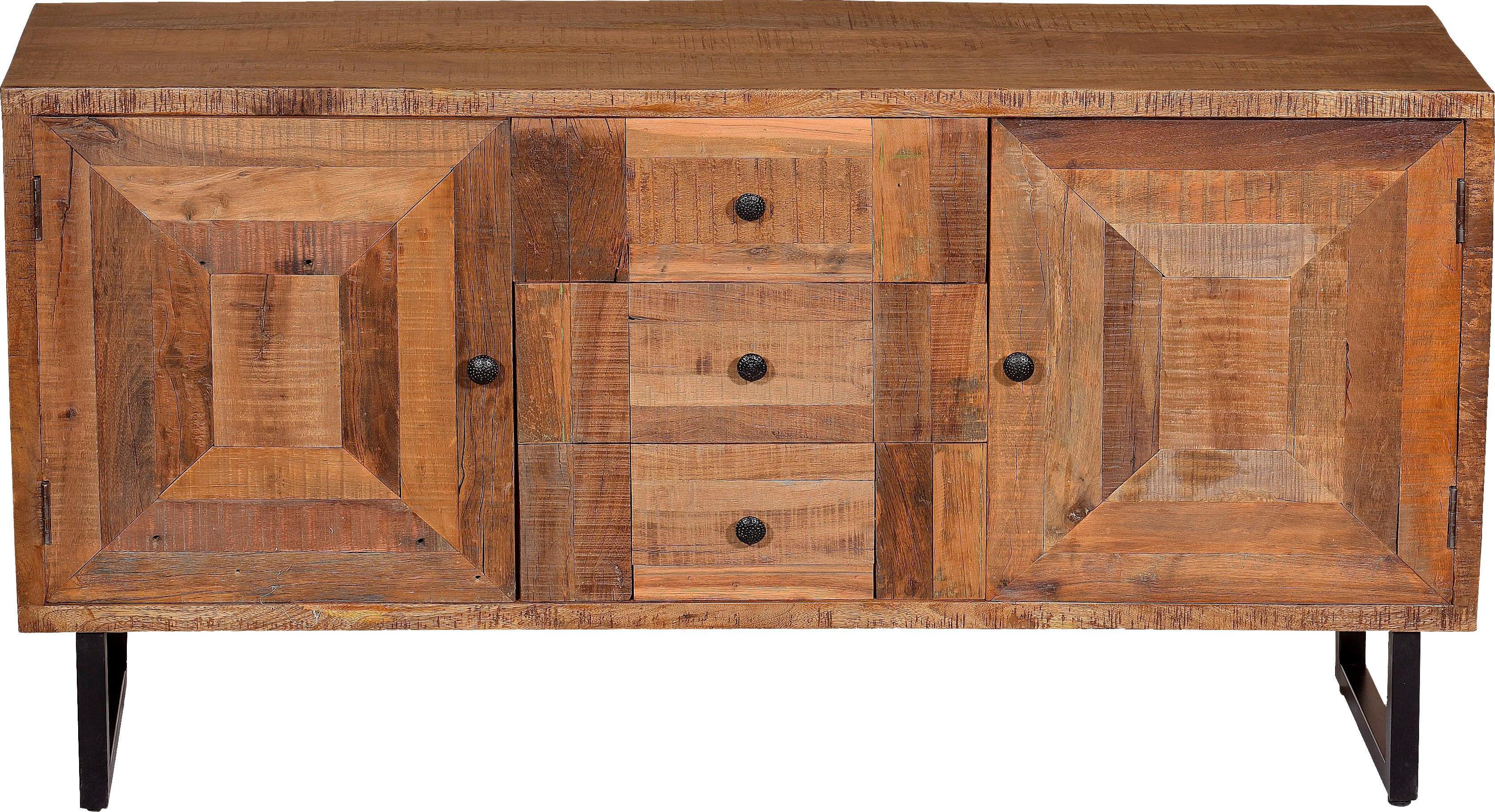 SIT Sideboard Parquett aus recyceltem Teakholz Breite 150 cm