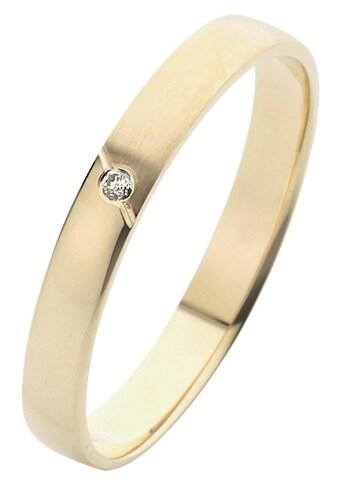 Firetti Trauring mit Gravur »glanz, sandmatt, Diamantschnitt, 3,0 mm breit«, Made in... kaufen