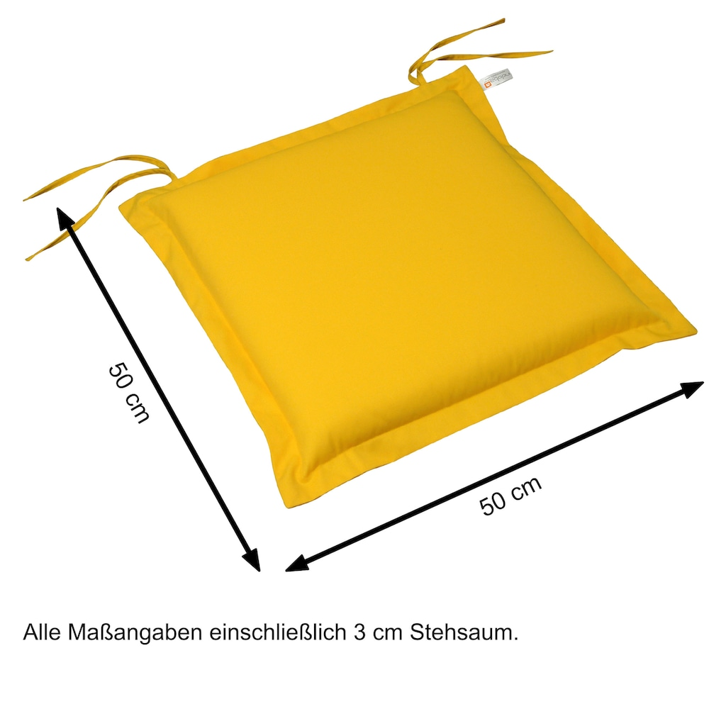 indoba Sitzkissen »Premium«, 6er Set, extra dick - Gelb - IND-70444-AUSK-6