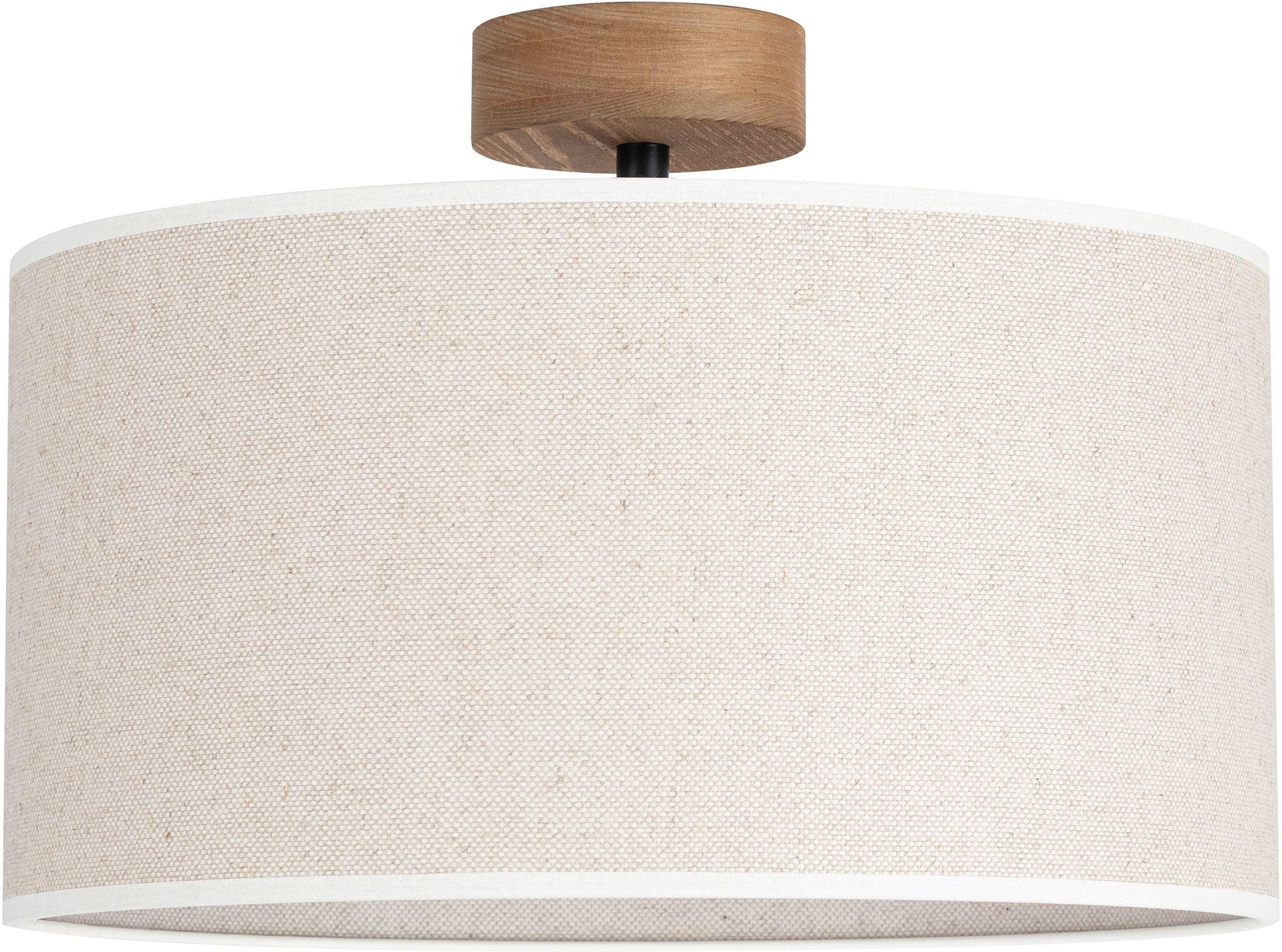 OTTO products Deckenleuchte Emmo, E27, 1 St., Hochwertiger Leinen-Baumwoll Lampenschirm, Naturprodukt mit FSC-Zertifikat, geeignet für LM E27 - exklusive, Made in Europe