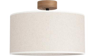OTTO products Deckenleuchte »Emmo«, E27, 1 St., Hochwertiger Leinen-Baumwoll Lampenschirm, Naturprodukt mit FSC®-Zertifikat, geeignet für LM E27 - exklusive, Made in Europe kaufen