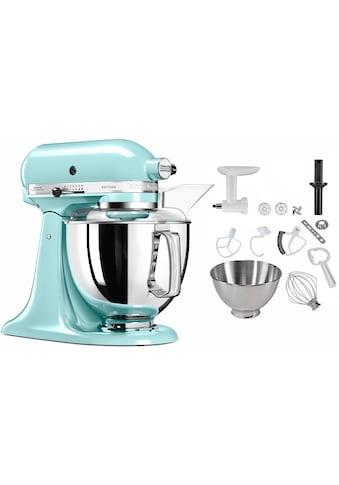 KitchenAid Küchenmaschine »5KSM175SEIC Artisan«, 300 W, 4,8 l Schüssel, inkl.... kaufen