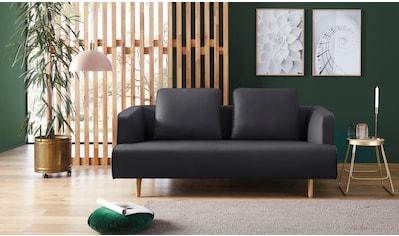 hülsta sofa 3-Sitzer »hs.440«, wahlweise in Stoff oder Leder, Fuß Eiche natur kaufen