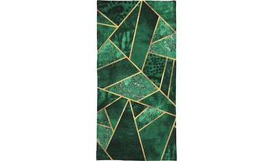 Juniqe Handtuch »Deep Emerald«, (1 St.), Weiche Frottee-Veloursqualität kaufen
