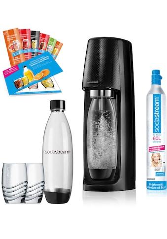 """SodaStream Wassersprudler """"Easy"""" (12 - tlg., 1 Wassersprudler, 1 CO2 - Zylinder, 2 PET - Flaschen, 2 Gläser, 6 Sirupproben) kaufen"""