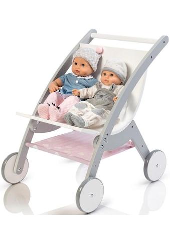 """MUSTERKIND® Puppen - Zwillingsbuggy """"Barlia, grau/weiß"""" kaufen"""