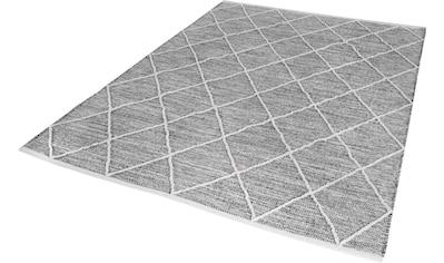 my home Teppich »Pamplona«, rechteckig, 8 mm Höhe, reine Baumwolle, Wohnzimmer kaufen