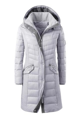 Casual Looks Mantel  mit kontrastfarbigen Elementen kaufen