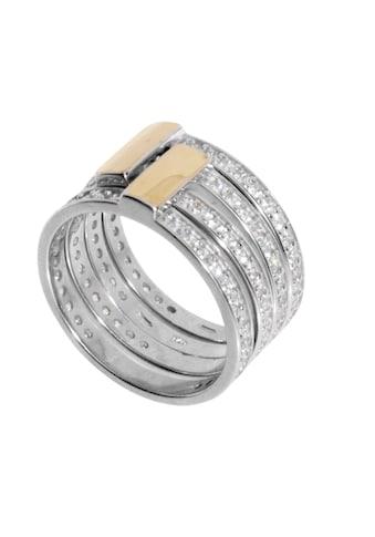 OSTSEE - SCHMUCK Fingerring » -  Sunny Exklusiv  -  Silber 925/000 & Gold 585/000  -  Zirkonia« kaufen