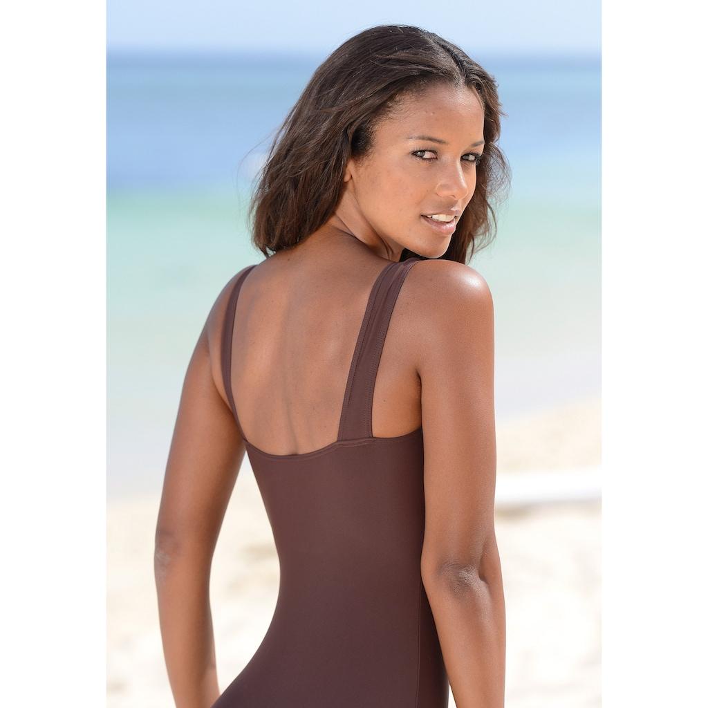 LASCANA Badeanzug, mit kontrastfarbenem Einsatz