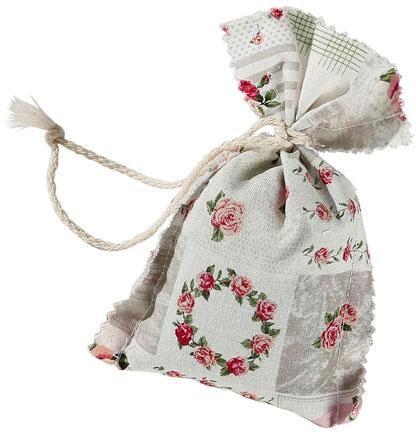 herbalind Duftbeutel Lavendel Patchwork Rosenmuster, Herbalind bunt Dekokissen gemustert Kissen