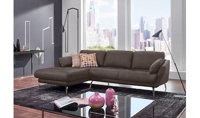 W.SCHILLIG Ecksofa »softy«, mit dekorativer Heftung im Sitz, Füße Chrom glänzend kaufen