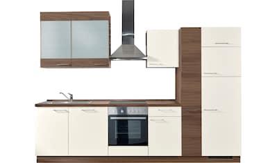 Express Küchen Küchenzeile »Trea«, mit E-Geräten, vormontiert, mit Vollauszug und... kaufen