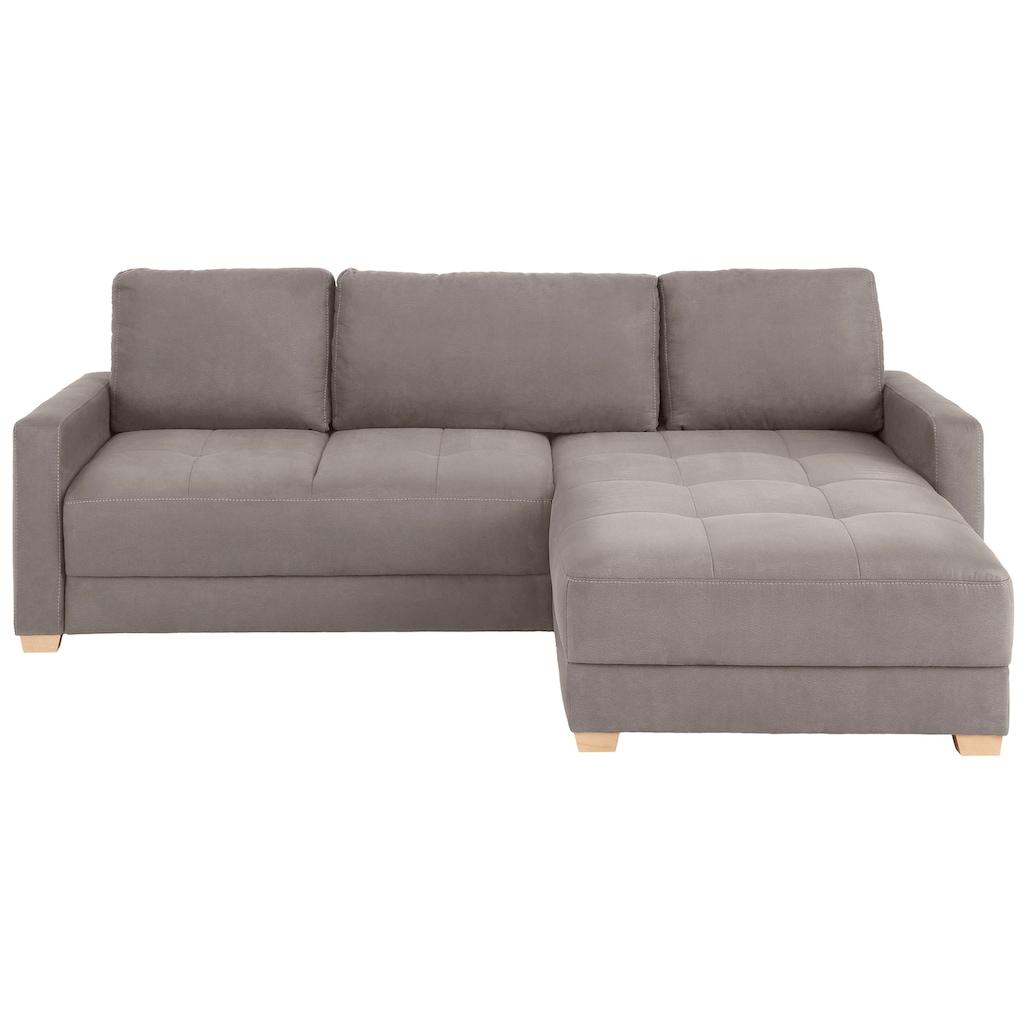 DELAVITA Ecksofa »Casella Luxus«, mit Bettfunktion und Bettkasten, mit besonders hochwertiger Polsterung für bis zu 140 kg pro Sitzfläche