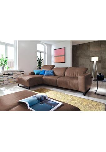 Premium collection by Home affaire Ecksofa »Juist«, mit Kopfteilverstellung und... kaufen